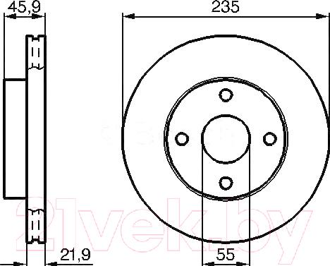 Купить Тормозной диск Bosch, 0986478787, Германия