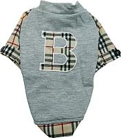 Рубашка для животных Allfordogs Британский стиль / 00639 (XL, серый) -