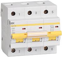 Выключатель автоматический IEK ВА 47-100 3Р 100А 10кА С / MVA40-3-100-C -