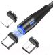 Кабель Topk AM60 USB MicroUSB Type-C Lightning (1м, черный) -