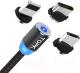 Кабель Topk AM23 USB MicroUSB Type-C Lightning (1м, черный) -