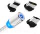 Кабель Topk AM23 USB MicroUSB Type-C Lightning (1м, серебристый) -