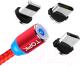 Кабель Topk AM23 USB MicroUSB Type-C Lightning (1м, красный) -