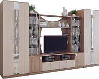 Стенка SV-мебель Гамма 15 Ж (ясень шимо темный/ясень шимо светлый) -