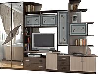 Стенка SV-мебель Гамма 5 Ж (дуб венге/дуб млечный) -