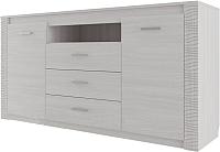 Комод SV-мебель Гамма 20 Ж 3 ящика двухстворчатый (ясень анкор светлый/сандал светлый) -