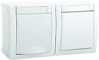 Розетка Panasonic Pacific WPTC42122WH-BY (двойная) -