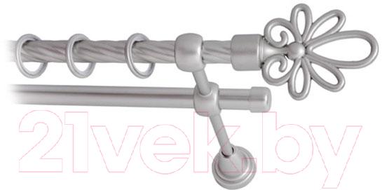 Купить Карниз для штор Lm Decor, Астра 170 2р витой (сатин, 3.6м), Россия, металл