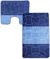 Набор ковриков Maximus Sariyer 2582 60x100/50x60 (темно-синий) -