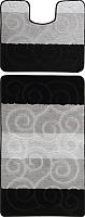 Набор ковриков Maximus Sile 2513 50x80/40x50 (черный) -