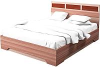 Двуспальная кровать SV-мебель Спальня Эдем 2 160x200 (ясень шимо темный/ясень шимо светлый) -