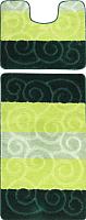 Набор ковриков Maximus Sile 2536 50x80/40x50 (зеленый) -