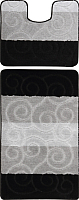 Набор ковриков Maximus Sile 2513 60x100/50x60 (черный) -