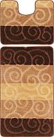 Набор ковриков Maximus Sile 2518 60x100/50x60 (коричневый) -