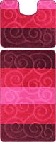 Набор ковриков Maximus Sile 2576 60x100/50x60 (баклажановый) -