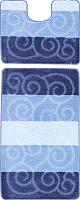 Набор ковриков Maximus Sile 2582 60x100/50x60 (темно-синий) -