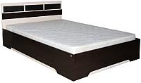 Полуторная кровать SV-мебель Спальня Эдем 2 120x200 (дуб венге/дуб млечный) -