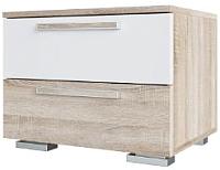 Прикроватная тумба SV-мебель Спальня Лагуна 2 Ж (дуб сонома/белый глянец) -