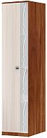 Шкаф-пенал SV-мебель Гамма 15 Ж (слива валлис/дуб млечный) -