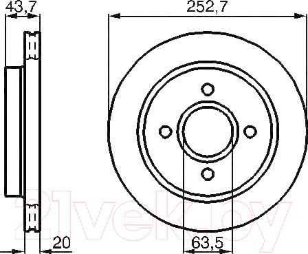 Купить Тормозной диск Bosch, 0986478605, Германия
