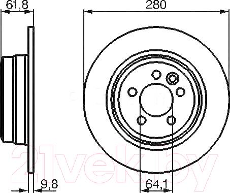 Купить Тормозной диск Bosch, 0986478837, Германия
