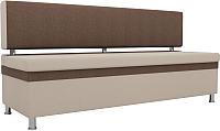 Скамья кухонная мягкая Mebelico Стайл 204 / 100866 (рогожка, бежевый/коричневый) -