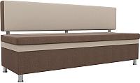 Скамья кухонная мягкая Mebelico Стайл 204 / 100867 (рогожка, коричневый/бежевый) -