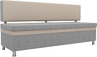 Скамья кухонная мягкая Mebelico Стайл 204 / 100868 (рогожка, серый/бежевый) -