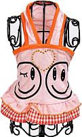 Платье для животных Allfordogs Смайлик / 00745 (12, оранжевый) -