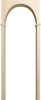Арка межкомнатная Юркас Милано 70-130х19х180 (беленый дуб) -