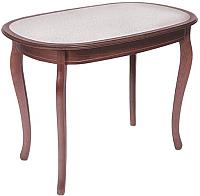 Обеденный стол ТехКомПро Азалия 100x70 с камнем (шпон, дуб/тон 39) -