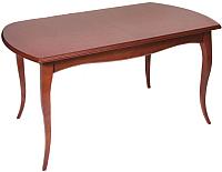 Обеденный стол ТехКомПро Азалия 1400 (бук/тон Вишня) -