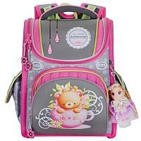 Школьный рюкзак Across ACR19-195-07 (розовый/серый) -