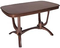 Обеденный стол ТехКомПро Камелия 1300 (дуб/тон орех) -