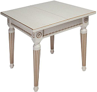 Обеденный стол ТехКомПро Лекс 5 ножка круглая (бук/тон 1/золотая патина) -