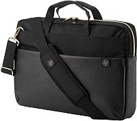 Сумка для ноутбука HP Pavilion Accent Briefcase 15 3 / 4QF94AA (черный/золото) -