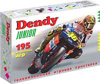 Игровая приставка Dendy Junior 195 игр + световой пистолет OLD -