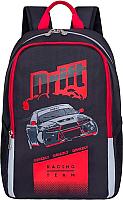 Школьный рюкзак Grizzly RB-863-1 (черный/красный) -