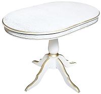 Обеденный стол ТехКомПро Эдельвейс МО (дуб/тон 1/золотая патина) -