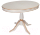 Обеденный стол ТехКомПро Эдельвейс М/Б 735x1050-1345x750 (дуб/тон 1/золотая патина) -