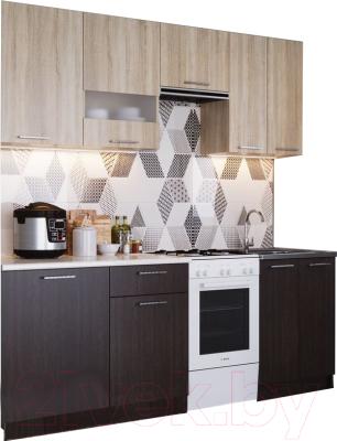 Готовая кухня SV-мебель Магнолия 1.7 (дуб венге/дуб сонома)