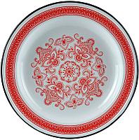 Блюдо СтальЭмаль Узор индийский С0808.0*65 (красный) -