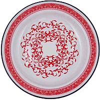 Блюдо СтальЭмаль Узор индийский 2 С0808.0*66 (красный) -