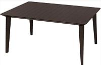 Стол пластиковый Keter Lima Table / 236245 (коричневый) -