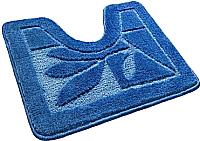 Коврик для туалета Shahintex Эко 60x50 (синий) -