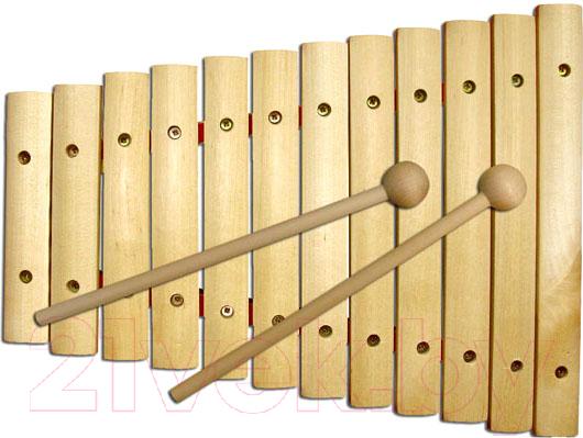 Купить Музыкальная игрушка Играй с умом, Ксилофон / Д-461, Беларусь, натуральный