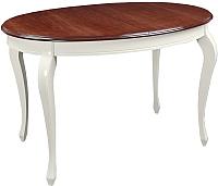 Обеденный стол ТехКомПро Азалия 1250 Ножка №10 (бук/тон орех/патина/тон царги/тон 1) -