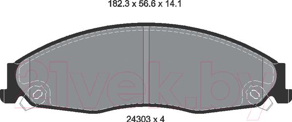Купить Тормозные колодки Textar, 2430301, Великобритания