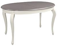 Обеденный стол ТехКомПро Азалия 1350 Ножка №10 (бук/тон шале/царги/тон 1) -