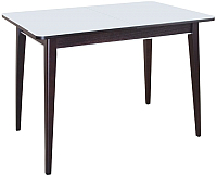 Обеденный стол ТехКомПро Арека ПРС Ножка 7 800x1200(1600)x750 (тон венге/стекло белое) -